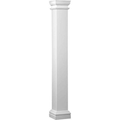 Crown Column Duralite 8 In. x 8 Ft. Smooth White Fiberglass Column