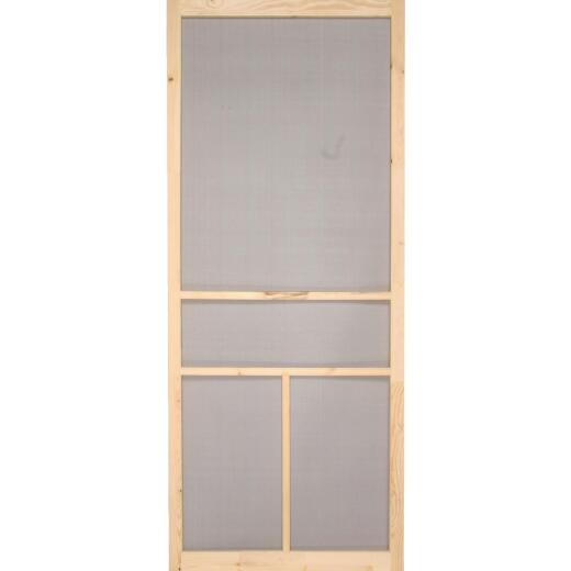Snavely Kimberly Bay 30 In. W. x 80 In. H. x 1 In. Thick Natural Fingerjoint Pine Wood T-Bar Screen Door