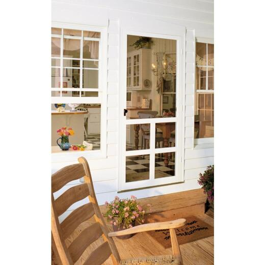 Snavely Kimberly Bay Victoria 36 In. W. x 80 In. H. x 1 In. Thick White Vinyl Screen Door