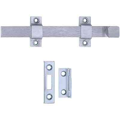 Tell Commercial 8 In. Satin Chrome Door Surface Bolt