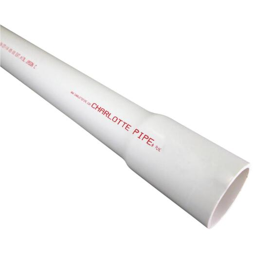 Charlotte Pipe 1 In. x 20 Ft. Cold Water Schedule 40 PVC Pressure Pipe, Belled End