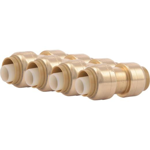 SharkBite 1/2 In. Push-to-Connect Straight Brass Coupling (4-Pack)