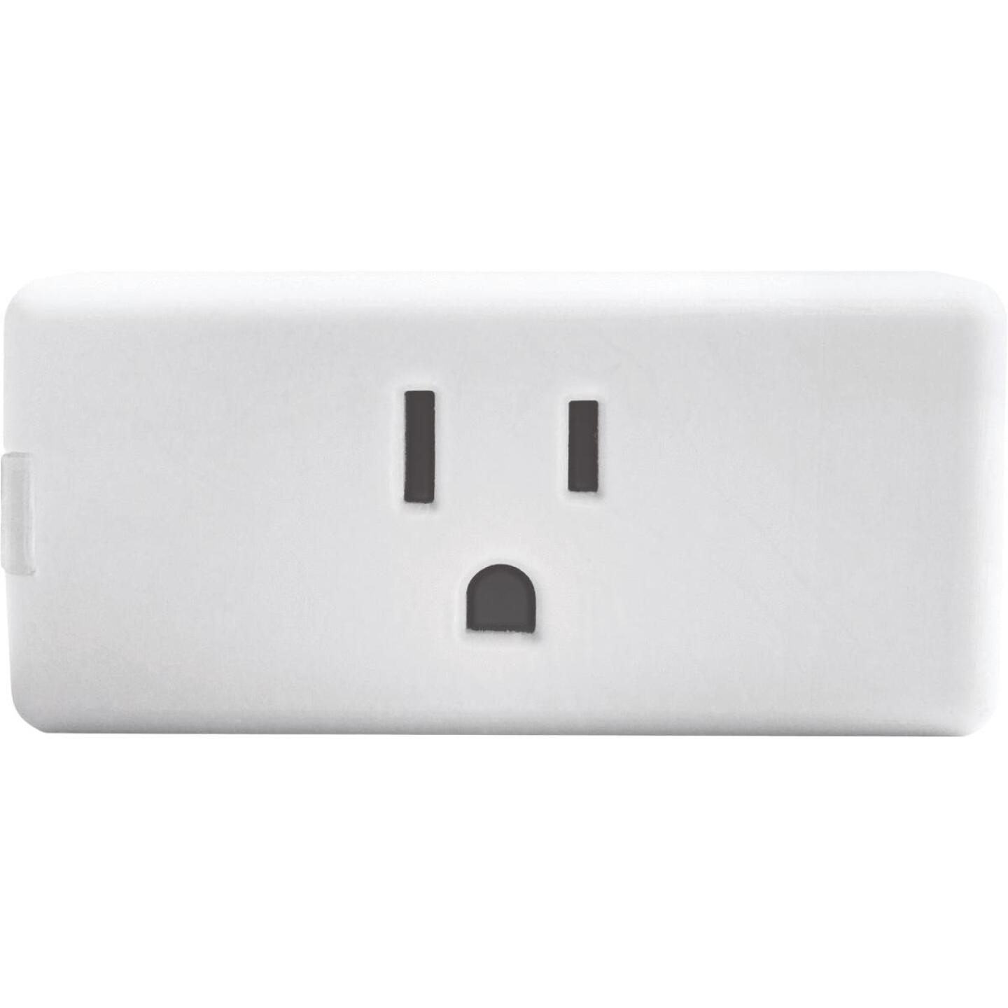 Leviton Decora Smart 1-Outlet White Wi-Fi Plug-In Outlet Image 1