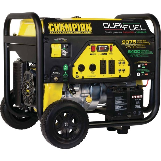 Champion 7500W Dual Fuel Portable Generator with Electric Start (California Compliant)