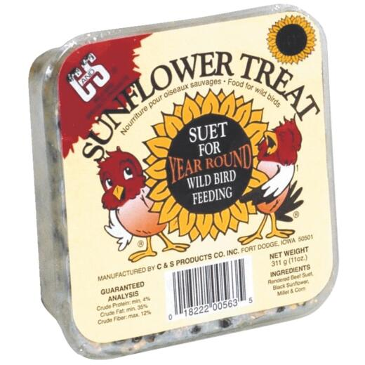 C&S 11 Oz. Sunflower Treat Suet