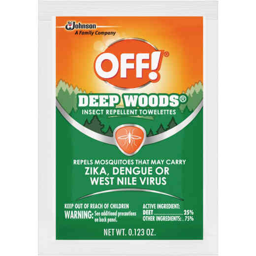 Deep Woods Off 12-Count Insect Repellent Towelettes