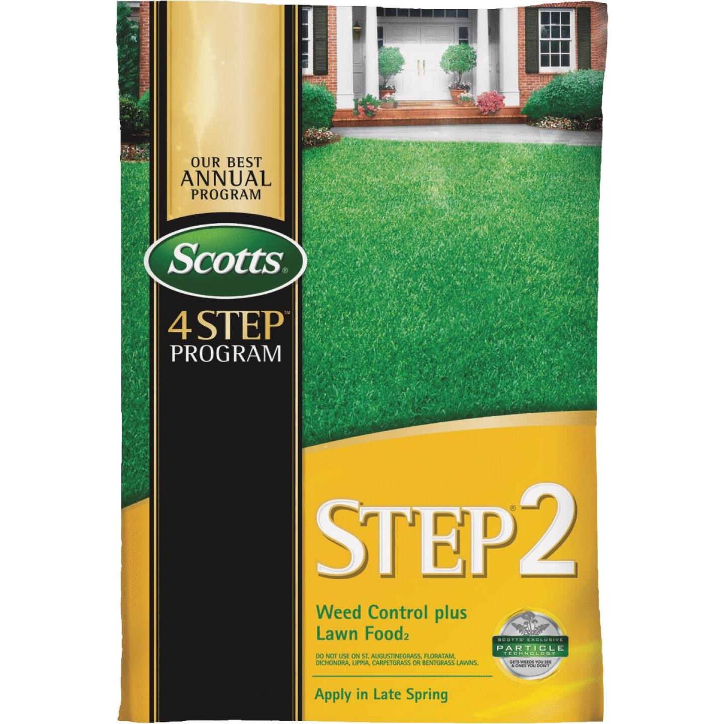 Scotts 4-Step Program Step 2 14.29 Lb. 5000 Sq. Ft. 28-0-3 Lawn Fertilizer with Weed Killer Image 1