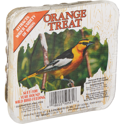 C&S 11 Oz. Orange Treat Wild Bird Suet