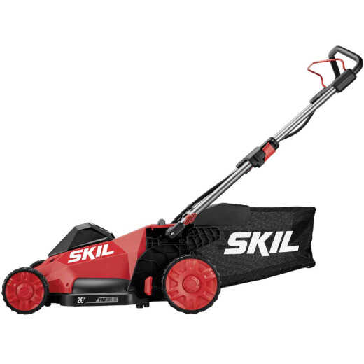 SKIL PWRCore 40V Brushless Push Lawn Mower Kit with 5.0Ah Battery and AutoPWRJump Charger
