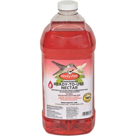 Perky-Pet 64 Oz. Red Ready To Use Liquid Hummingbird Nectar