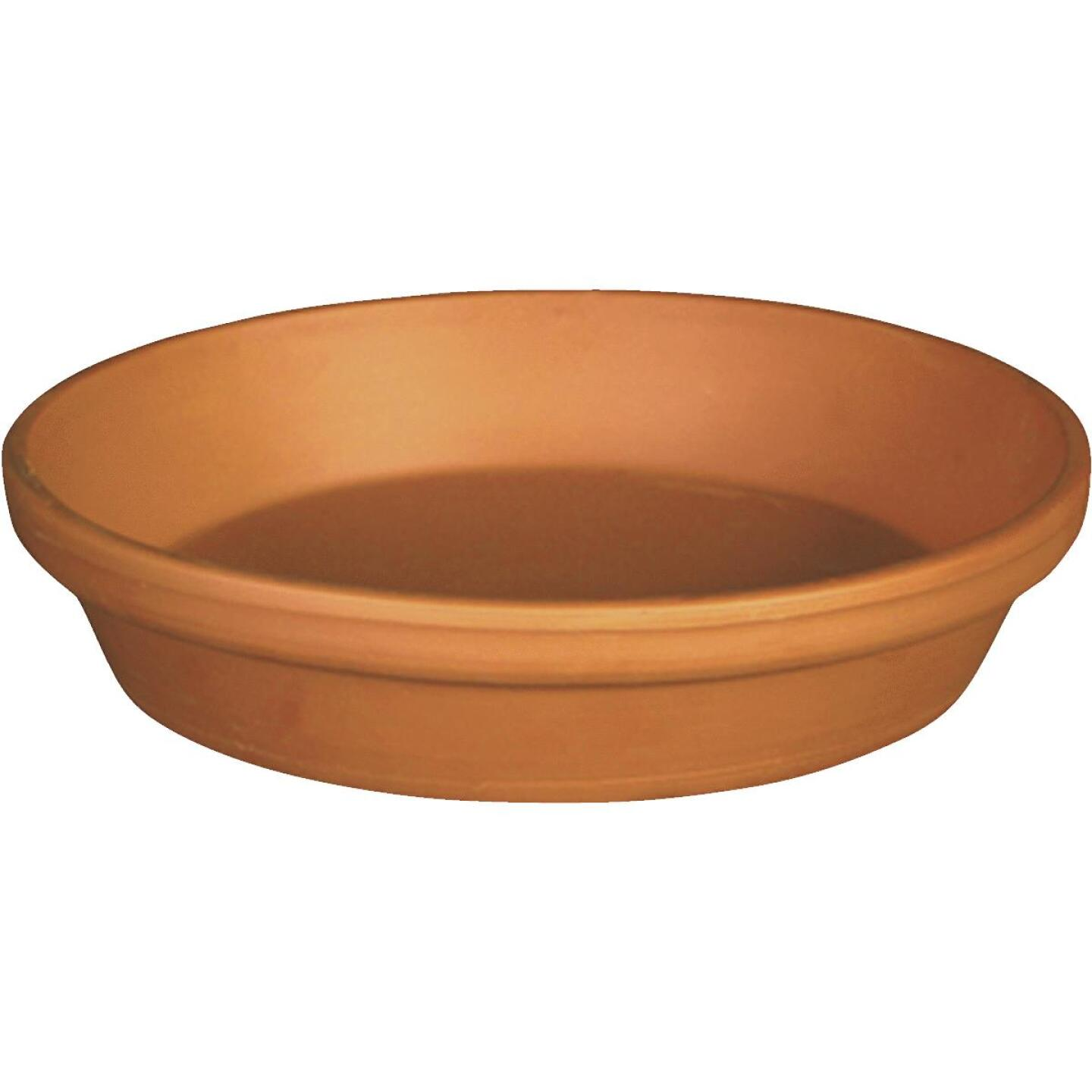 Ceramo 8 In. Terracotta Clay Standard Flower Pot Saucer Image 1
