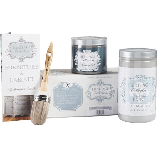 Heirloom Traditions Heritage Collection Chalk Paint Cabinet Restoration Kit, Cobblestone