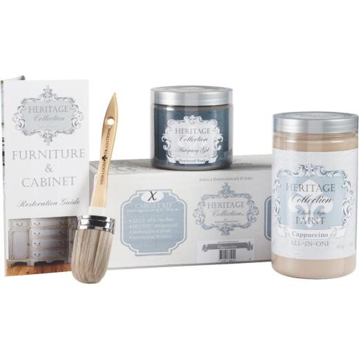Heirloom Traditions Heritage Collection Chalk Paint Cabinet Restoration Kit, Cappuccino
