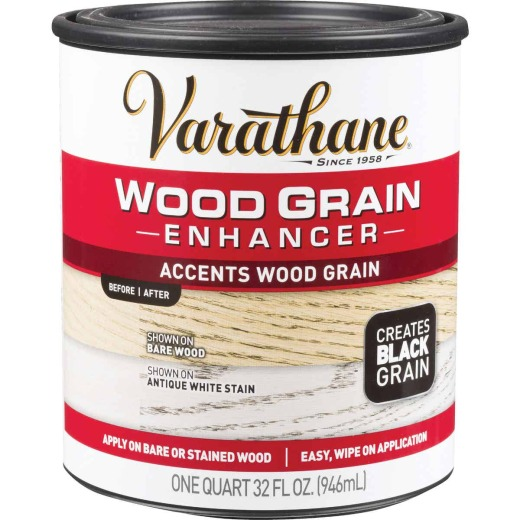 Varathane 1 Qt. Wood Grain Enhancer Finish, Black