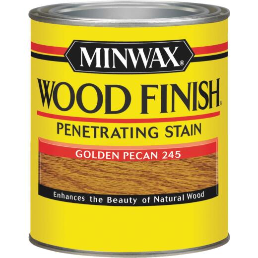 Minwax Wood Finish Penetrating Stain, Golden Pecan, 1 Qt.