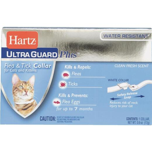 Hartz Ultra Guard Plus Water Resistant Flea & Tick Collar For Cats & Kittens